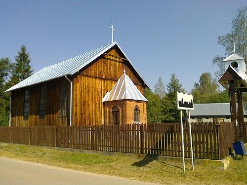 Wojtkowice Dady, kaplica Parafii Rzymskokatolickiej pw.Trójcy Przenajświętwszej wCiechanowcu