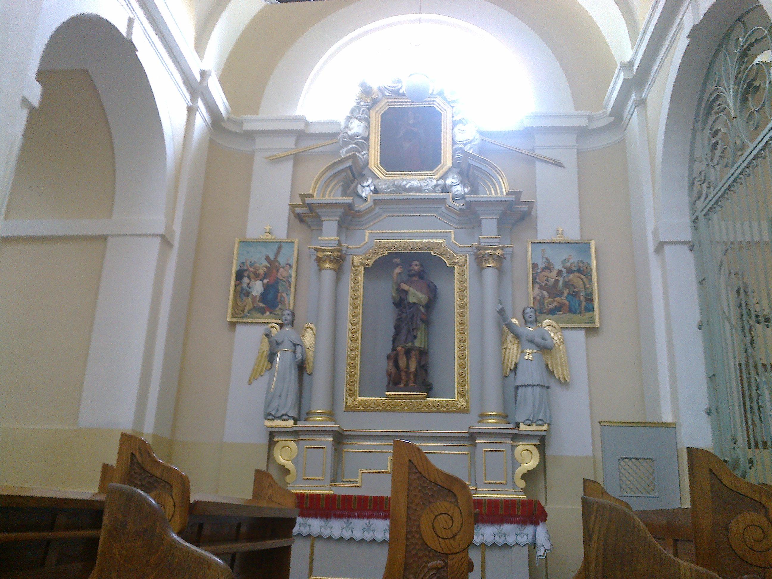 Ołtarz św.Rocha wprawej tylnej kaplicy