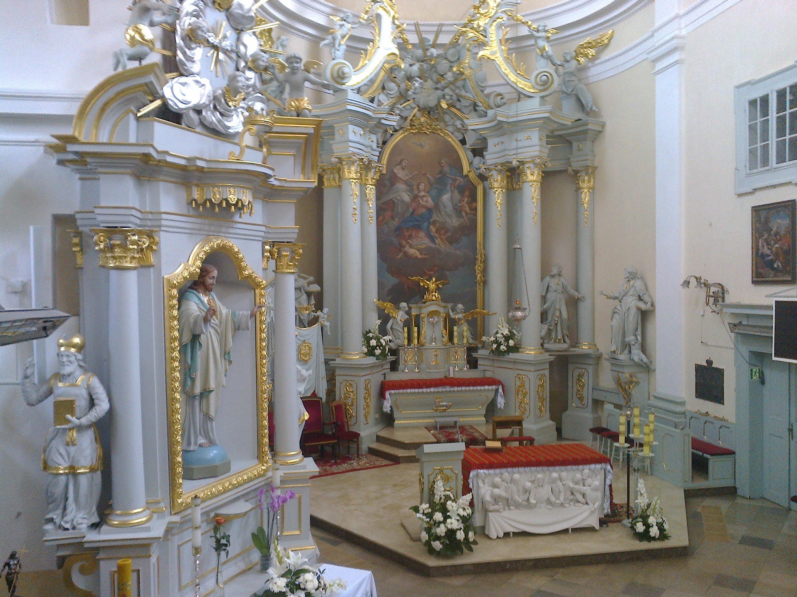 Prezbiterium - widok zambony