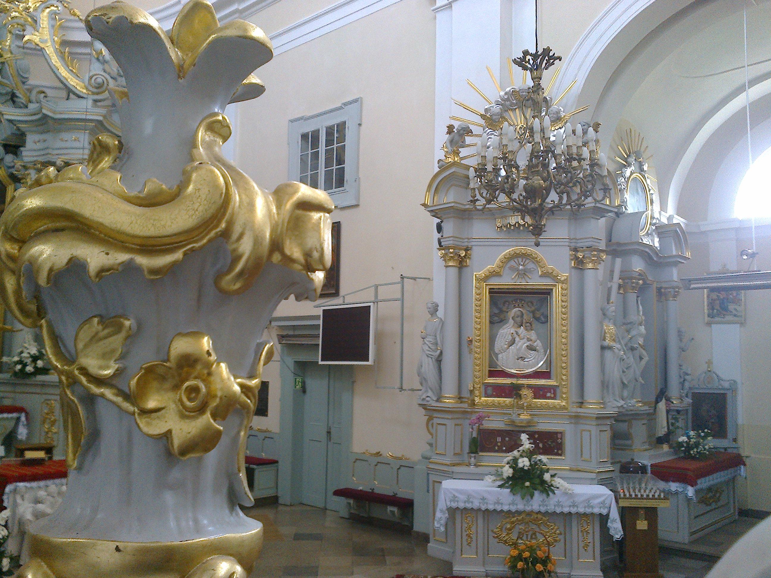Ołtarz mariacki - widok zambony