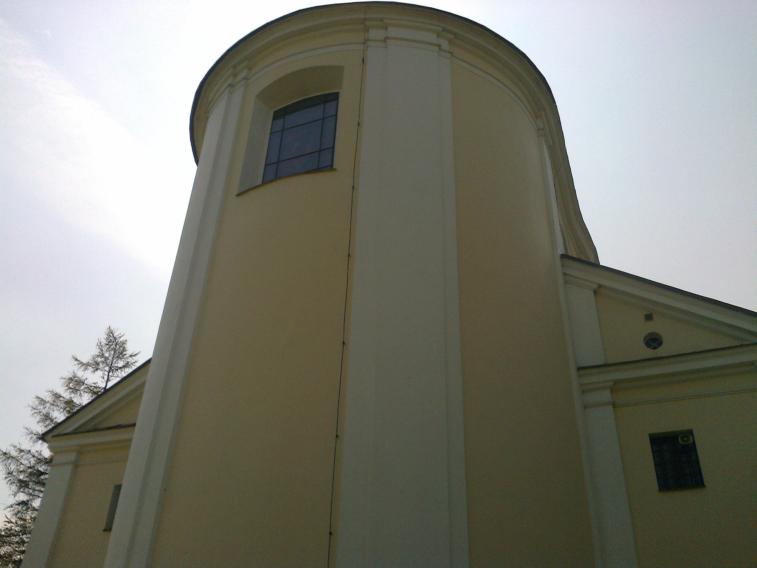 Absyda świątyni wystawiona nawschód
